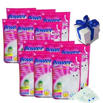 12x5= 60 lit. L Power Cat Magic Silikat Katzenstreu Powercat Streu - 1
