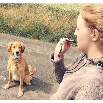ACME Hundepfeife No. 211,5 + GRATIS Pfeifenband | Original aus England | Ideal für die Hundeausbildung | Robustes Material | Genormte Frequenz | Laut und weitreichend (black) - 5