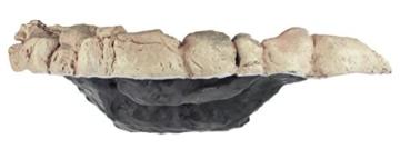 Acuami Terrarium Badeschale – Wassernapf zum Baden und Trinken für Reptilien und Amphibien – Terraristik-Zubehör – Deko in Stein-Optik (XL) - 3