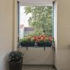 ALLEGRA Katzennetz für Balkon oder Fenster, Katzenschutznetz mit Halterung, Set mit Netz + 2X Teleskopstange ohne Bohren zum Klemmen (2m-3,75m + Netz 3x2m) - 1