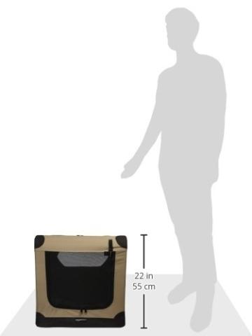 AmazonBasics - Hundekäfig, weich, faltbar, 76 cm - 7