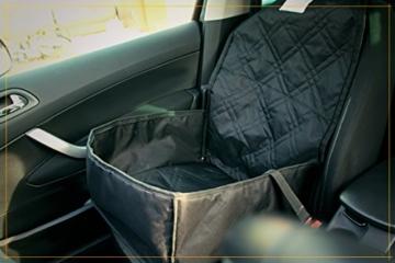 Bee more dog 2-in-1 Hund Autositzbezug als Hundekorb oder Schondecke für Vordersitz, abwaschbarer und rutschfester Sitzbezug mit Gurt für alle Autos - 2