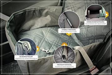 Bee more dog 2-in-1 Hund Autositzbezug als Hundekorb oder Schondecke für Vordersitz, abwaschbarer und rutschfester Sitzbezug mit Gurt für alle Autos - 3