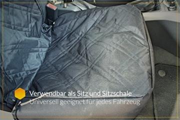 Bee more dog 2-in-1 Hund Autositzbezug als Hundekorb oder Schondecke für Vordersitz, abwaschbarer und rutschfester Sitzbezug mit Gurt für alle Autos - 6