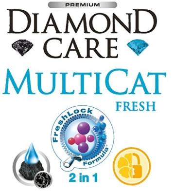 Biokat's Diamond Care Multicat Fresh Katzenstreu mit Duft | staubfreie Klumpstreu mit Aktivkohle und Cotton Blossom Duft | 1 Sack (1 x  8 L) - 5