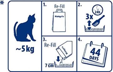 Biokat's Diamond Care Multicat Fresh Katzenstreu mit Duft | staubfreie Klumpstreu mit Aktivkohle und Cotton Blossom Duft | 1 Sack (1 x  8 L) - 6