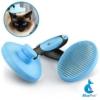 Bluepet *ZupfZeug* Fellbürste mit Click Clean Selbstreinigend |Sanfte Katzenbürste Zupfbürste | Kurzhaar bis Langhaar - 1
