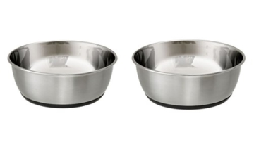 Cajou Antirutsch Napf-Set Edelstahl schwer für Hunde Futternapf und Wassernapf … (2 x 2700 ml) - 1