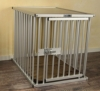 Callieway® Premium ALU Hundekäfig für Büro & Zuhause, Hundebox, ALU Transportkäfig Dogcrate Pro in Größe L (Large: 79cm (L) x 58cm (B -Türseite) x 65cm (H)) - 1