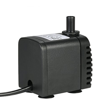 Decdeal 600L/H 8W Tauchpumpe Aquarium Pumpe Wasserpumpe mit 2 Düsen für Brunnen Aquarium - 2