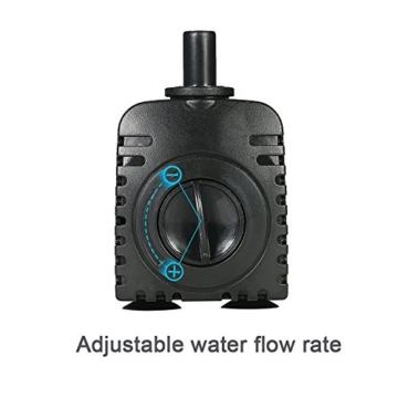 Decdeal 600L/H 8W Tauchpumpe Aquarium Pumpe Wasserpumpe mit 2 Düsen für Brunnen Aquarium - 8