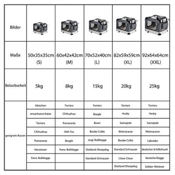 Deuba Hundetransportbox CADOCA faltbar - Größe M - 4
