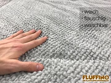FLUFFINO® Hundedecke- Flauschig, Weich u. Waschbar (Größe L, 104 x 68 cm, grau)- erhöhte Rutschfestigkeit durch Gumminoppen- Für große u. kleine Hunde o. Katzen- Hundematten/Hundekissen, Katzendecke - 4