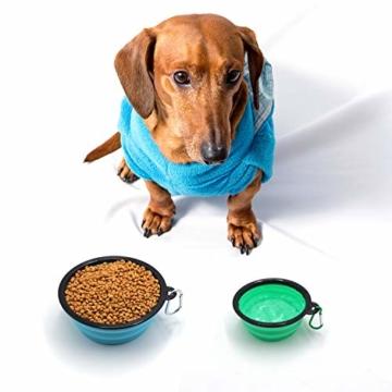 FRETOD Hundenapf Faltbar 2 Packungen Reisenäpfe für Hunde für Small Mittlere Große Haustiere - 2