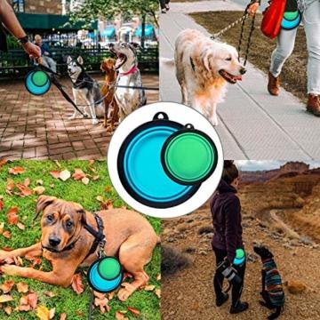 FRETOD Hundenapf Faltbar 2 Packungen Reisenäpfe für Hunde für Small Mittlere Große Haustiere - 6