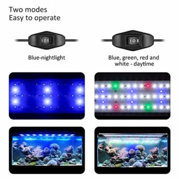 FTALGS Aquarium LED Beleuchtung Aquariumbeleuchtung Weiß Blau Rot Grün von Licht (80A=29.5''-39.3''(72CM)) - 4