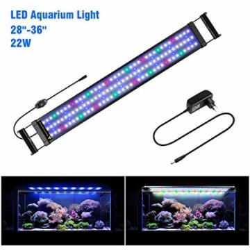 FTALGS Aquarium LED Beleuchtung Aquariumbeleuchtung Weiß Blau Rot Grün von Licht (80A=29.5''-39.3''(72CM)) - 1