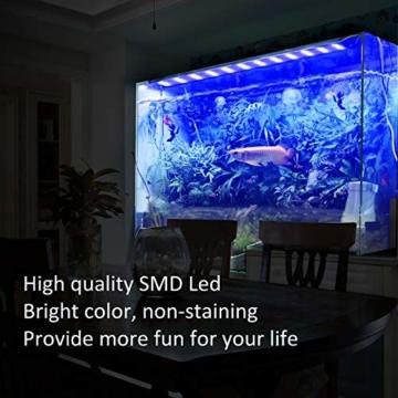FTALGS Aquarium LED Beleuchtung Aquariumbeleuchtung Weiß Blau Rot Grün von Licht (80A=29.5''-39.3''(72CM)) - 5