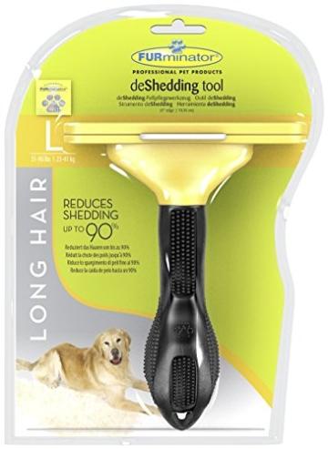 FURminator deShedding Hunde-Pflegewerkzeug zur Fellpflege – Hundebürste in Größe L zur gründlichen Entfernung von Unterwolle und losen Haaren - für langhaarige Hunde - 2