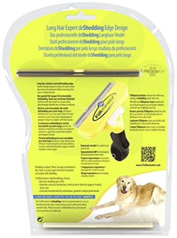 FURminator deShedding Hunde-Pflegewerkzeug zur Fellpflege – Hundebürste in Größe L zur gründlichen Entfernung von Unterwolle und losen Haaren - für langhaarige Hunde - 3