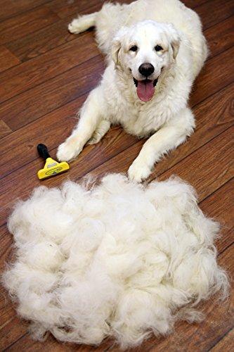 FURminator deShedding Hunde-Pflegewerkzeug zur Fellpflege – Hundebürste in Größe L zur gründlichen Entfernung von Unterwolle und losen Haaren - für langhaarige Hunde - 5
