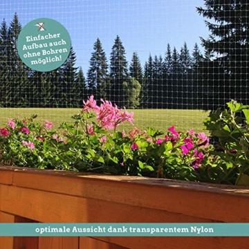 Good-to-have Katzennetz 8x3m für Balkon und Fenster | Transparentes Balkonnetz | Extra stabiles Befestigungsmaterial | Schutznetz mit Anleitung - 4
