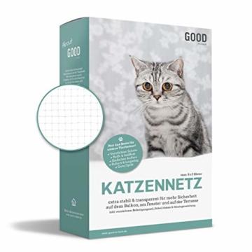 Good-to-have Katzennetz 8x3m für Balkon und Fenster | Transparentes Balkonnetz | Extra stabiles Befestigungsmaterial | Schutznetz mit Anleitung - 1