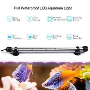 GreenSun Aquarium LED Beleuchtung Leuchte Lampe 27 LEDs 5050SMD 48CM Lighting für Fisch Tank EU Stecker weißlicht Wasserdicht - 2