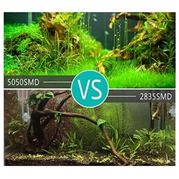 GreenSun Aquarium LED Beleuchtung Leuchte Lampe 27 LEDs 5050SMD 48CM Lighting für Fisch Tank EU Stecker weißlicht Wasserdicht - 4