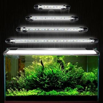 GreenSun Aquarium LED Beleuchtung Leuchte Lampe 27 LEDs 5050SMD 48CM Lighting für Fisch Tank EU Stecker weißlicht Wasserdicht - 1