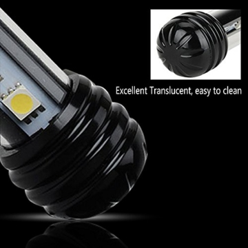 GreenSun Aquarium LED Beleuchtung Leuchte Lampe 27 LEDs 5050SMD 48CM Lighting für Fisch Tank EU Stecker weißlicht Wasserdicht - 5
