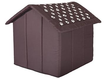 HobbyDog Hundehütte, Größe 4, 60x55cm, aushaltbares Codurastoff, waschbar bei 30 ° C, Beständigkeit gegen Kratzer, EU-Produkt - 3