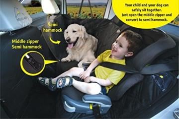 Hundedecke für Auto Rückbank. Wasserdicht! Komplettschutz Comfort Autoschondecke für Hunde, Wasserfester Rücksitz Sitzbezug, ideale Autodecke für Haustiere, Schonbezüge Decke + 2 Geschenke enthalten! - 4