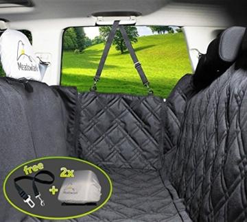 Hundedecke für Auto Rückbank. Wasserdicht! Komplettschutz Comfort Autoschondecke für Hunde, Wasserfester Rücksitz Sitzbezug, ideale Autodecke für Haustiere, Schonbezüge Decke + 2 Geschenke enthalten! - 1