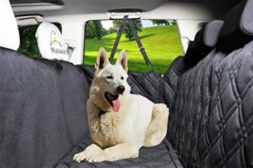 Hundedecke für Auto Rückbank. Wasserdicht! Komplettschutz Comfort Autoschondecke für Hunde, Wasserfester Rücksitz Sitzbezug, ideale Autodecke für Haustiere, Schonbezüge Decke + 2 Geschenke enthalten! - 5