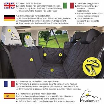 Hundedecke für Auto Rückbank. Wasserdicht! Komplettschutz Comfort Autoschondecke für Hunde, Wasserfester Rücksitz Sitzbezug, ideale Autodecke für Haustiere, Schonbezüge Decke + 2 Geschenke enthalten! - 7