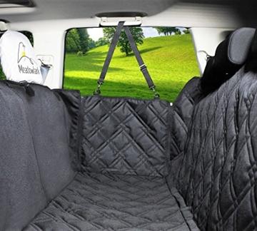 Hundedecke für Auto Rückbank. Wasserdicht! Komplettschutz Comfort Autoschondecke für Hunde, Wasserfester Rücksitz Sitzbezug, ideale Autodecke für Haustiere, Schonbezüge Decke + 2 Geschenke enthalten! - 8