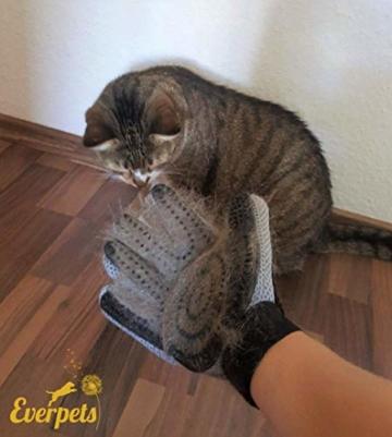 [Komplett verbessert] Fellpflege-Handschuh 2.0 für Katze & Hund – Hundebürste & Katzenbürsten für kurzhaar & langhaar - Tierhaar Handschuh für Hunde und Katzen - 3