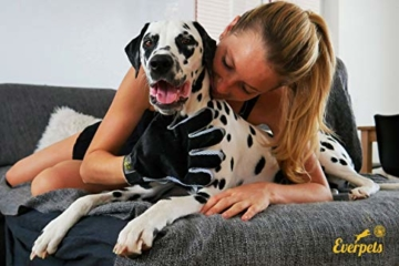 [Komplett verbessert] Fellpflege-Handschuh 2.0 für Katze & Hund – Hundebürste & Katzenbürsten für kurzhaar & langhaar - Tierhaar Handschuh für Hunde und Katzen - 4