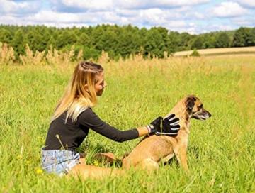 [Komplett verbessert] Fellpflege-Handschuh 2.0 für Katze & Hund – Hundebürste & Katzenbürsten für kurzhaar & langhaar - Tierhaar Handschuh für Hunde und Katzen - 5