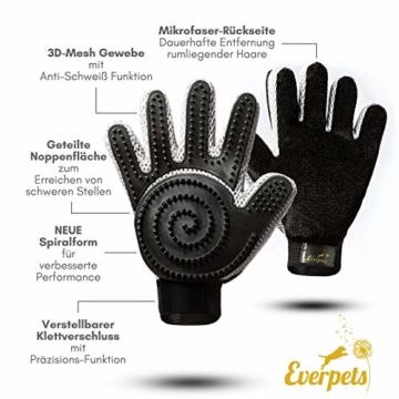 [Komplett verbessert] Fellpflege-Handschuh 2.0 für Katze & Hund – Hundebürste & Katzenbürsten für kurzhaar & langhaar - Tierhaar Handschuh für Hunde und Katzen - 7