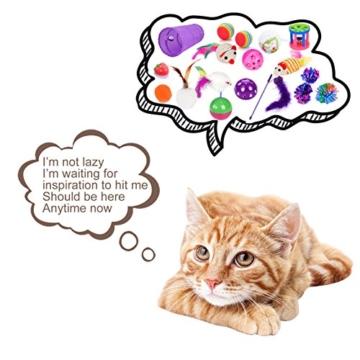 Legendog Katzenspielzeug Set, 17 Stück Katzen Spielzeug | Katzenangel Maus Bälle Katzenspielzeug | Spiele für Kitten - 3