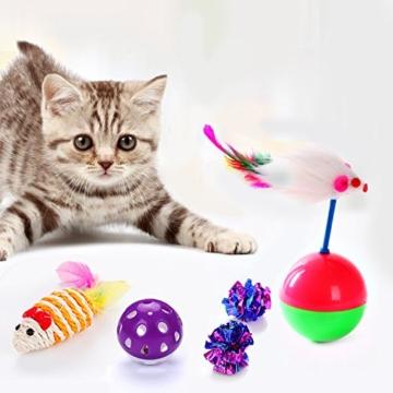 Legendog Katzenspielzeug Set, 17 Stück Katzen Spielzeug | Katzenangel Maus Bälle Katzenspielzeug | Spiele für Kitten - 5