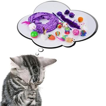 Legendog Katzenspielzeug Set, 17 Stück Katzen Spielzeug | Katzenangel Maus Bälle Katzenspielzeug | Spiele für Kitten - 6