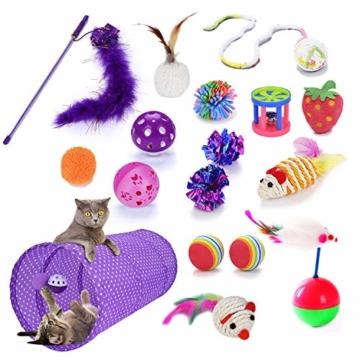 Legendog Katzenspielzeug Set, 17 Stück Katzen Spielzeug | Katzenangel Maus Bälle Katzenspielzeug | Spiele für Kitten - 9
