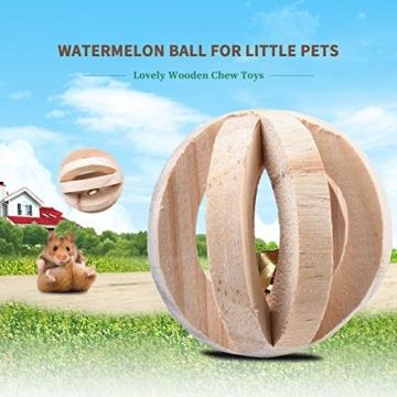 Leisuretime 5 Stücke Pet Spielzeug Set Kleine Haustiere Holz Kauen Spielzeug Kiefer Dumbells Einrad Glocke Roller Kauen Spielzeug Für Katze Kaninchen Hamster Ratte (5 pcs) - 4
