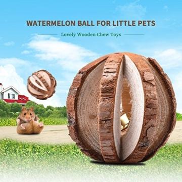 Leisuretime 5 Stücke Pet Spielzeug Set Kleine Haustiere Holz Kauen Spielzeug Kiefer Dumbells Einrad Glocke Roller Kauen Spielzeug Für Katze Kaninchen Hamster Ratte (5 pcs) - 5