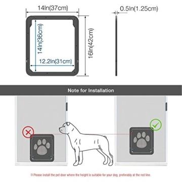 LESYPET Haustierklappe Haustiertüre fuer Hunde & Katze, Hund Fenster freilauftür Groß - 4