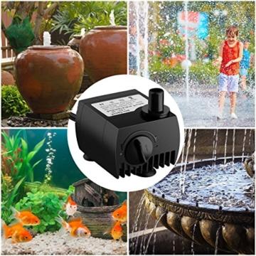 Maxesla Mini Wasserpumpe 300L/H Tauchpumpe Unterwasser Wasserspielpumpe für Teiche, Aquarium, Garten, Brunnen, Gartenteich Springbrunnen, Aquariumpumpe - 2