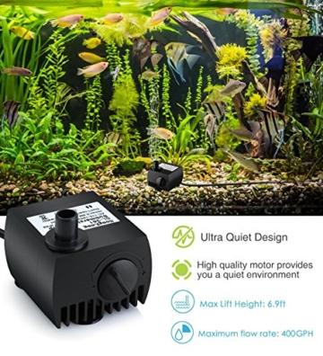 Maxesla Mini Wasserpumpe 300L/H Tauchpumpe Unterwasser Wasserspielpumpe für Teiche, Aquarium, Garten, Brunnen, Gartenteich Springbrunnen, Aquariumpumpe - 3